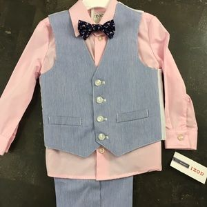 Izod Matching Sets - Toddler boys wedding summer dressy 4 piece suit